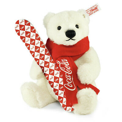 STEIFF Limited Edition Coca Cola Polar Bear EAN 355400 21cm +Gift box Alpaca New