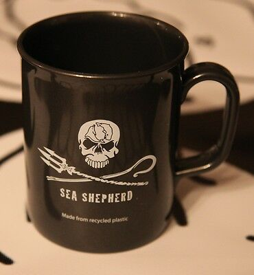 "Sea Shepherd ""Non Chip"" Mugs made from recycled plastic Jolly Roger ."