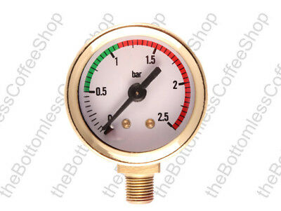 Pressure Gauge for La Pavoni Coffee Machine Maker Gold Plated