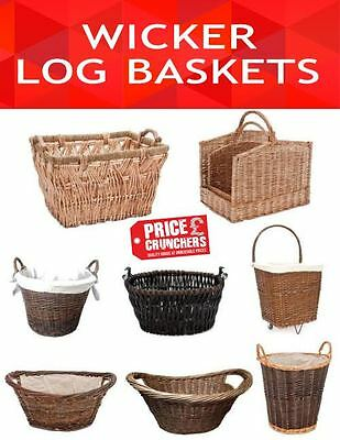 Kitchen Wicker Basket Fire Wood Log Holder Carrier Laundry Garden Toys Storage
