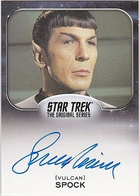 Star Trek Aliens 2014 Leonard Nimoy As Spock Autograph Extremely Limited