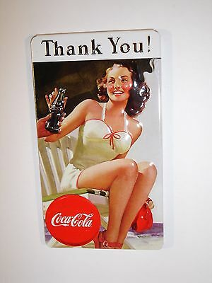 "Coca Cola ""Thank You"" Embossed Magnet by Ande Rooney"