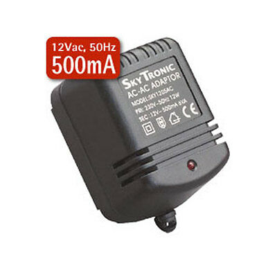 2.1mm 12V AC Mains Power Supply Adapter 12Vac * 500mA