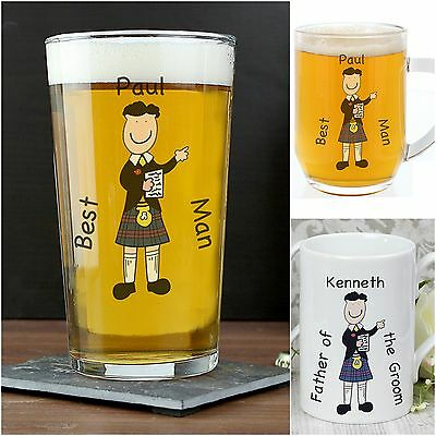 Personalised Scottish Wedding Presents Gifts for Best Man Pageboy Usher