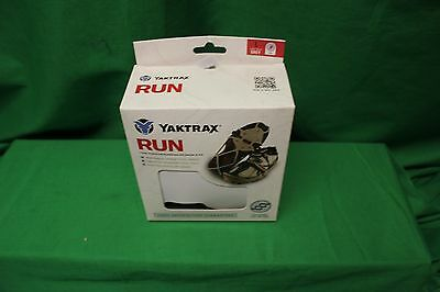 Yaktrax Run Grey Traction On Snow And Ice Size Large NEW in box carbide spikes