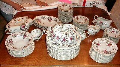 Meito Norleans Bone China  Rosanne Floral Set 50+ pc Vintage MINT photos Ivory
