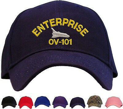 21e7dd54933 Space Shuttle Enterprise Embroidered Baseball Cap - Available in 7 Colors -  Hat