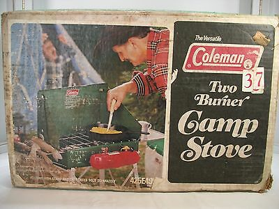 The Versatile COLEMAN ~ Two Burner Camp Stove 425E499 ~ Slightly Used