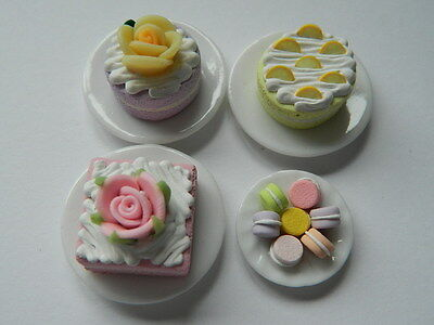 (C1.3) Dolls House Cakes : 4 X Handmade Assorted Cakes