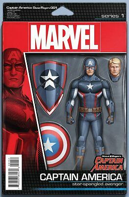 Steve Rogers : Captain America Issue 1 - Action Figure Variant Cover