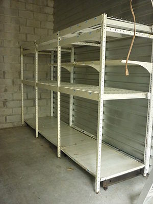Large Commercial Warehouse Shelf Rack System 5 Sections Adjustable Local Pick Up