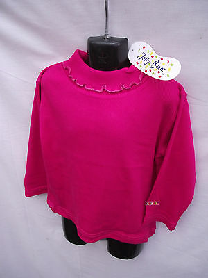 BNWT Girls Sz 0 (6/9 Months) Hot Pink Jelly Beans Stretch Long Sleeve Skivvy Top