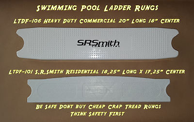 Swimming Pool Ladder Tread Rung White Plastic LTDF - 106 101 103 S.R. Smith Step