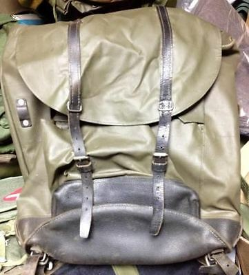Vintage Swiss Army Military Mountain Rubberized Backpack Rucksack