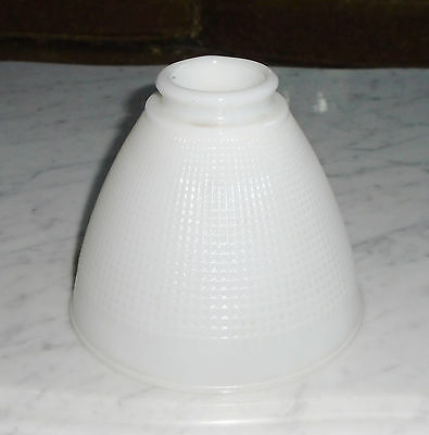Small Torchiere Milk Glass Stiffel Rembrandt Lamp Waffle Diffuser 2 1/4 fitter