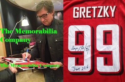 Wayne Gretzky '' The  Greatest'' Signed Canada Jersey Edmonton Oilers NHL *Proof