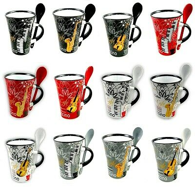 Little Snoring Gifts Musicians Kitchenware Cappuccino Mug With Spoon 3 Designs