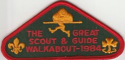 The Great Scout and Guide Walkabout 1984 Scout Badge