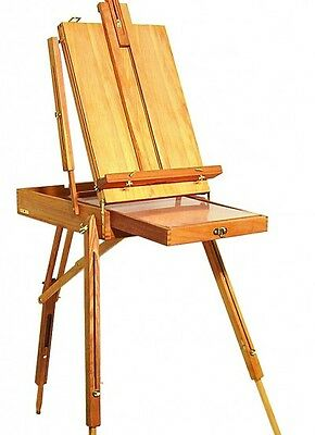 Wooden Sketch Box Easel with Palette and Belt A13135