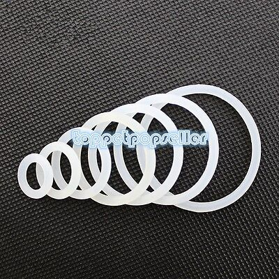 2-200Pcs OD 3mm-60mm White Silicone O-Ring Gaskets Seals Rubber Gasket Clamp