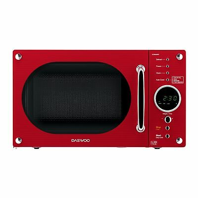Daewoo KOR8A9RR 23L 800W Touch Control 5 Programmes Retro Microwave Oven in Red