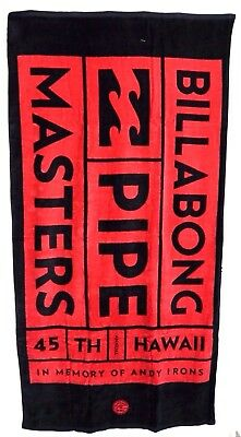 Billabong Large Andy Irons Pipe Masters Velour Beach / Pool Towel. NWT RRP$49.99