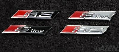 Emblem Adhesive Badge Line Rs Steering Wheel Fits Audi S Line S-Line Sticker