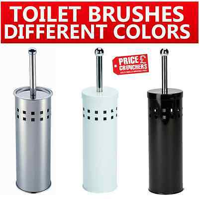 White Blue Black Stainless Steel Bathroom Toilet Cleaning Brush And Holder