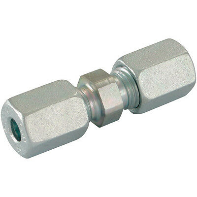 Hydraulic Compression Equal Tube Connector 6mm 6L DIN2353 Pk5