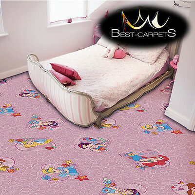 CHILDREN'S CARPET PRINCESS Pink Disney Bedroom Kids Play Area girls Rug ANY SIZE
