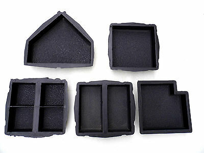 CONCRETE PAVING MOULD-SLAB-BRICK-FLAG - Antique set of 5 moulds