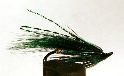 Salmon Fly,Druslan Green , Double Hook. (3-pack) Pick a size. Fly Fishing Fly