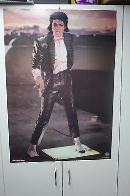 "Vintage 1980's Michael Jackson Billie Jean Music Video Poster 22X33"" Bowtie"