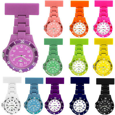 NY London Rubberized Nurse Watch With Pin Fob Non Silicone Toy Stylish Watches