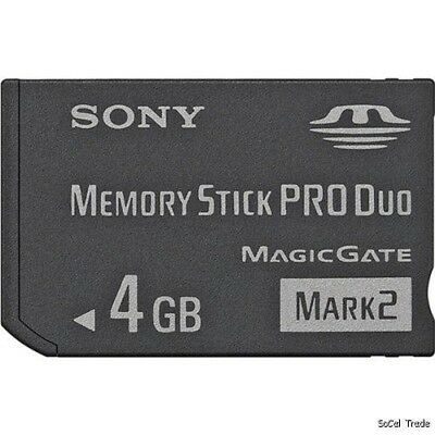 Sony 4GB Memory Stick MS Pro Duo Memory Card for Sony PSP and Cybershot Camera