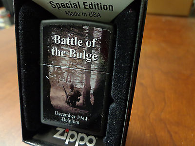 Battle Of The Bulge 1944 Belgium Wwii Zippo Lighter Mint In Box