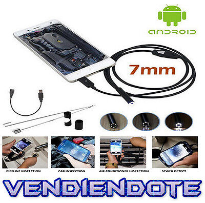 Camara Espia Endoscopio Android inspección Coche OTG Micro USB 1M PC Movil USB