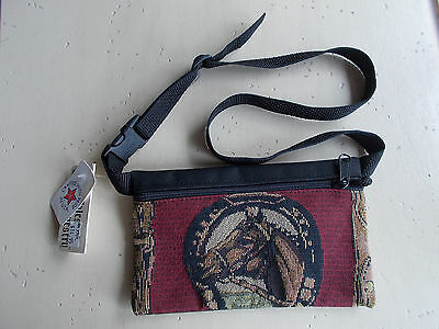 Tapestry Horse Fanny Waist Pack Made USA von Trampe Family NWT