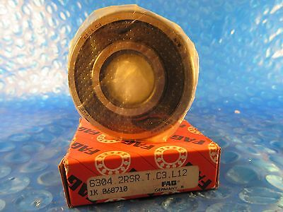 FAG 6304 2RSR C3  Single Row Radial Bearing (SKF 2RS, Timken 304PP, NTN VV NSK)