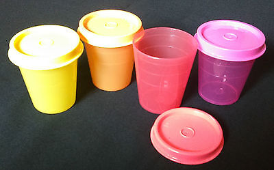 Tupperware - Midgets Round - Set Of 4 - Multicolour - New - Free Shipping