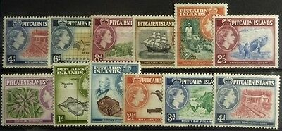 Stamps: Pitcairn Is.; SG#18-28 Set of 12 MNH  E370