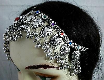 New Kuchi Tribal Head Piece Belly Dance Afghan Vintge Ethnic jewelry Gypsy ATS B