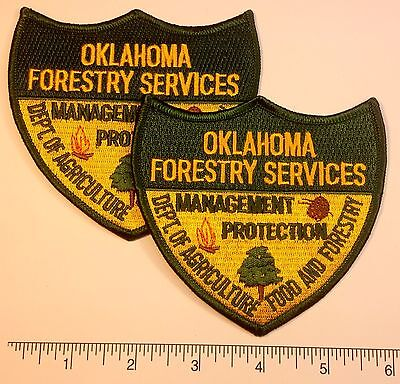 2-pack: Oklahoma Forestry Services Patch 4""