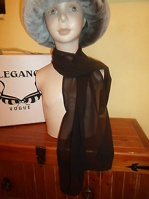 1 NEW Mixed Fibre Ladies Scarf CLASSY PLAIN BLACK ~ Gift Idea #97