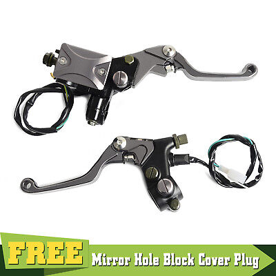 Universal Master Cylinder Brake Cable Clutch Perch Levers with Light Switch Kit