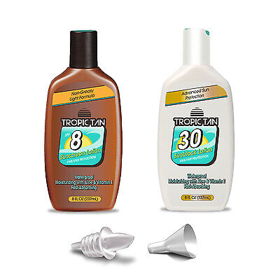 GoPong Tropic Tan Sunscreen Flask 2 Pack - Classic Bottle Style