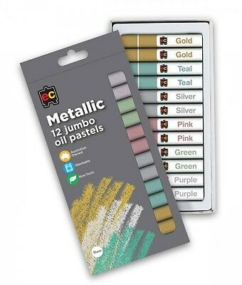 Educational Colours Jumbo Oil Pastels Metallic Pkt of 12