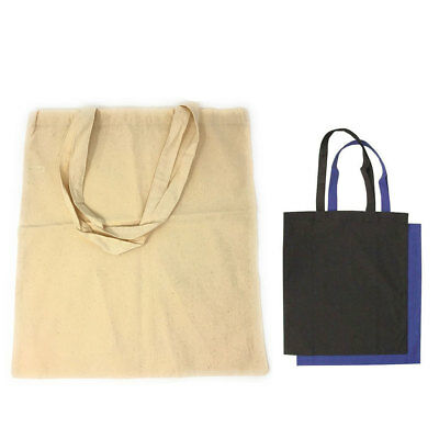 100 LOT Cotton Reusable Grocery Blank Shopping Tote Totes Bag Bags WHOLESALE