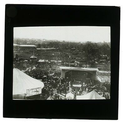 C1900 Scarce Glass Lantern Slide Stock Parade Adelaide Show Jubilee Oval Sa Q62