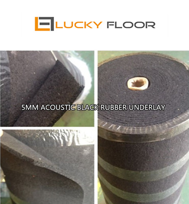 5mm Black Acoustic Rubber Underlay / FLOATING FLOOR /FLOOR /TIMBER LAMINATE